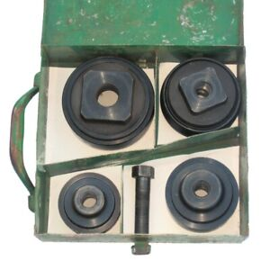 Greenlee 4pc Knockout Punch Set 2 To 3 1 2 in Original Metal Case