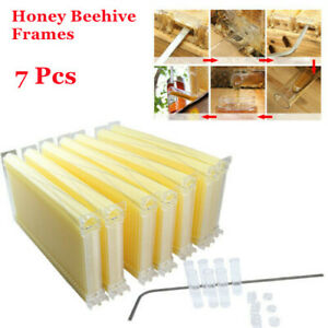 7 Pcs Auto Honey Beehive Frames Beekeeping Kit High Quality Upgraded Hive Frames