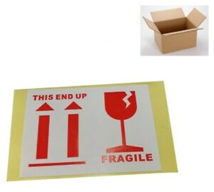 100pcs Set Fragile This End Up Stickers Adhesive Warning Label Safe Package Sign