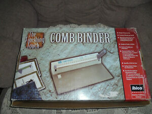 The Finishing Touch Book Binding Machine Paper Comb Punch Binder New