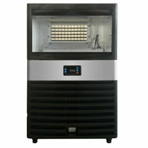 Commercial Ice Maker Stainless Steel Bar Restaurant Ice Cube Machine 110lbs 24h