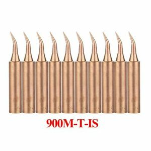 Pure Copper Soldering Iron Tip Lead free Solder Tips Welding 10pcs lot 900m t is