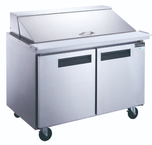 New 48 Mega Top Refrigerated Sandwich Prep Table Nsf Cooler Dukers Dsp48 2202
