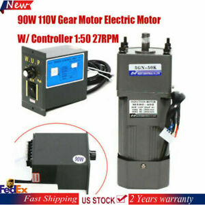 Electric Gear Motor Variable Speed Reduction Controller 0 27rpm 50k Ac 110v New