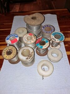 Mixed Lot Of Rolls Vintage Wire Solder Mixed Brands 10lbs As Pictured