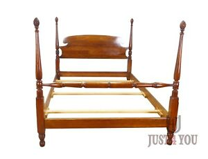 Stickley Solid Cherry Queen Poster Bed