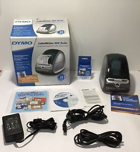 Dymo Labelwriter 400 Turbo Thermal Label Printer Model 93176 W box Cd Cables