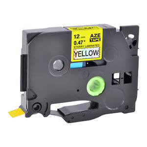 1pk Black On Starry Rainbow Yellow Laser Label For Brother Tz631l1 P touch 0 47