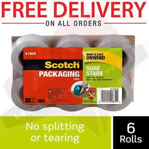 Scotch Moving Storage Packing Tape 6 Rolls Heavy Duty Shipping Packaging Mails