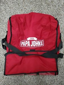 Papa Johns Pizza Insulated Hot Delivery Bag Red Used