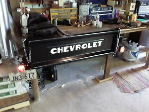 1941 1953 Chevy Truck Tailgate Bench Wall Mount Deluxe With Lights