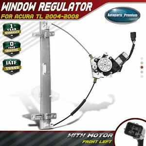 Power Window Regulator With 6 Pins Motor For Acura Tl 2004 2008 Front Left Driver