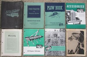 Vintage 1940 Ford Tractor With Ferguson System Manual Lot For Plows Cultivators