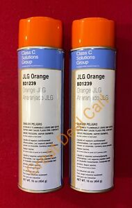 Jlg Boom Lift Orange Spray Paint High Solids Great Coverage 2 Pack Usa made