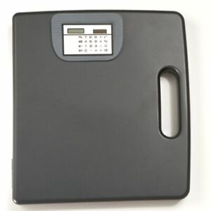 Officemate Portable Clipboard Case With Calculator Gray Economical Case Paper
