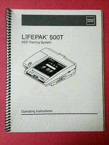 Medtronic Physio Control Lifepak 500t Aed Training Operating Manual Sealed