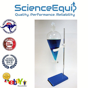 Separating Separatory Funnel Kit 250ml Glass Stopcock With Holder Metal Stand