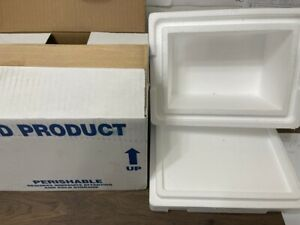 Styrofoam Insulated Shipping Container With Cardboard Box