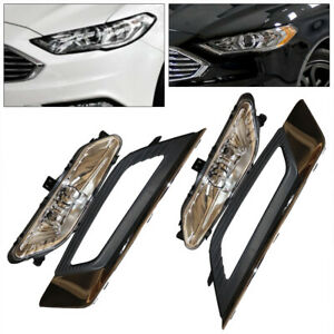 Led Daytime Running Light Drl Fog Lamp W Bulbs Switch For 2017 2018 Ford Fusion