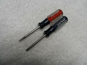 Craftsman Nos Mini Phillips Slotted Screwdriver Set Made In Usa 41541 41542