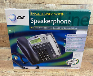 At t Small Business System 974 Corded Speakerphone Intercom 4 Lines Used Gently