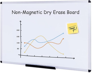 Viz pro Dry Erase Board Whiteboard Non magnetic 36 X 24 Inches Wall Mounted