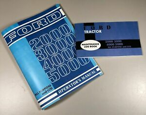 Ford 3000 3100 5000 5100 Tractor Operators Owners Manual All Purpose Lcg W Log