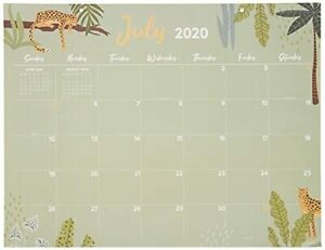 July 2020 June 2021 Monthly Theme Large 17 x22 Desk Pad Monthly Calendar