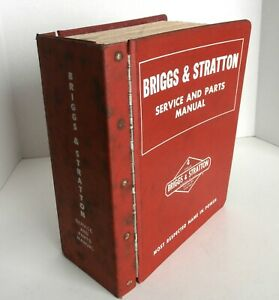 Vintage Briggs Stratton Service And Parts Manual Large Red Book