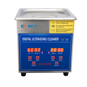 1 3l Commercial Ultrasonic Cleaner Industry Heated W timer Jewelry Ring Glasses
