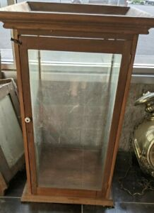 Vintage Old Wood Wooden Glass Taxidermy Antiques Display Case Large Bird Animal