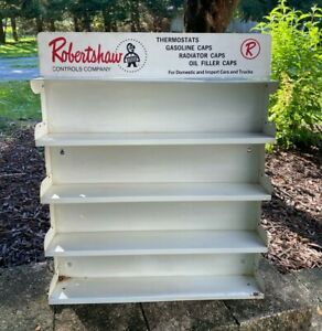 Vintage Robertshaw Controls Co Thermostats Gas Oil Caps Shelf Display Advertisi