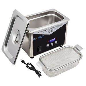 0 8l Commercial Ultrasonic Cleaner Industry W timer Jewelry Ring Parts Glasses