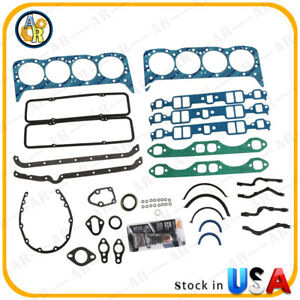 Full Engine Gasket Set For Small Block Chevy 283 302 307 327 350 Buick Century