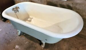 Vintage Antique Cast Iron Claw Foot Clawfoot Tub