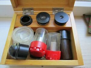 Soviet Microscope Lenses Lomo Ussr Eyepieces Lot Made In Russia