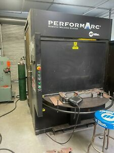 Miller Pa250 Robotic Welding Cell With Tawers 350amp Power Supply