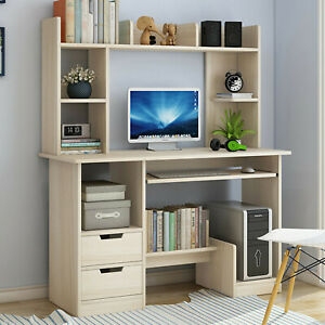 Computer Desk With Hutch Workstation Study Home Office Furniture Pc Laptop Table