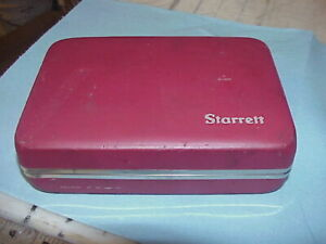 Starrett No 708a Jeweled Test Indicator Set With Case All Attachments 0001