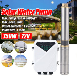 4 Deep Well Stainless Steel Solar Water Pump 72v 1hp Submersible Controller