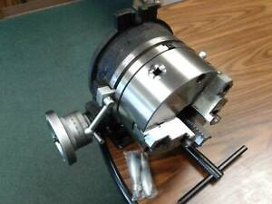 10 Horizontal Vertical Rotary Table W 10 3 Jaw Chuck Front Mounting