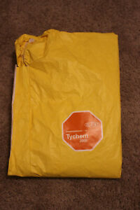 Dupont Tychem 2000 Hooded Coveralls Yellow Size Xl personal Protection