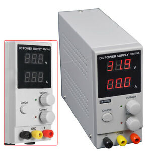 Lab Dc Bench Power Supply Variable 0 30v 10a Adjustable Switching Regulated Usa