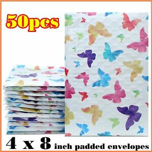Small Padded Envelopes 4 X 8 Cute Shipping Padded Bubble Mailer Bags 50 Pack New