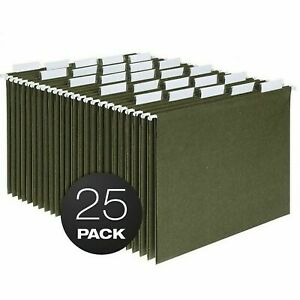 Hanging File Folders Lot Of 25 Dark Green Used Good Condition
