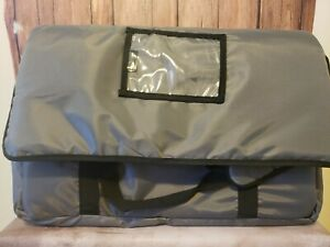 Insulated Pizza Delivery Bag 21x14x14 inside Measurements Grey