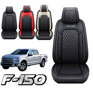 Car Seat Covers Pu Leather Front rear Set Cushion For 2009 2021 Ford F150 Truck