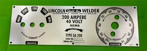 Lincoln Electric Arc Welder Sa 200 f 162 sh Mirrored Poly Aluminum Control Panel
