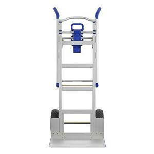 Cosc Convertible Heavy Duty Hand Truck 3 In 1 Dolly Aluminum 4 Whl Cart 1000 Lb