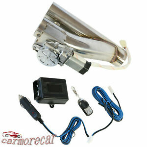 Exhaust Control Dual Valve Electric E Cut Out Y Pipe With Remote 2 5 Inch 63mm